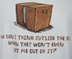 Think Outside the Box Mens T-shirt XL White Funny Humorous Graphic Tee Novelty #Gildan #GraphicTee $23.99