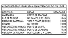 CORES DE CAMBADOS: HORARIOS E PUNTOS DE PARTIDA PARA MANIFESTACIÓN CO...