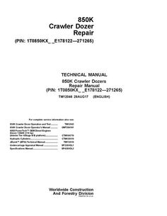 Repair manual john deere gator utility vehicle hpx 4x2 4x4 gas tm12046 john deere 850k crawler dozer technical service manual pdf download fandeluxe