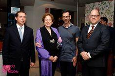 Jose Gancedo, con la Embajadora de México en España, Roberta Lajous; Macario Jiménez y Pablo Raphael.