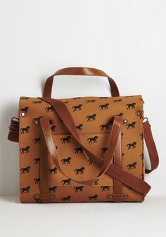 Camp Director Tote in Equine. When the cabins shutter up for the season, take a bit of camp charm with you by packing your essentials in this rustically refined tote! #brown #modcloth