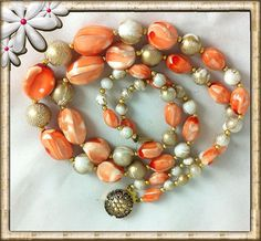 Coral Orange Peach by Hari Kaur Khalsa on Etsy