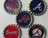 Braves Cute Caps, Braves Baseball, Bow Making, Home Team, Atlanta Braves, Seahawks, How To Make Bows, Milwaukee, How To Fall Asleep