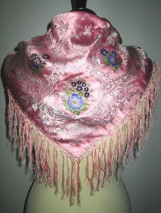 * * * Rosa Reinseiden-Tuch mit geknüpften Fransen * * * | eBay Dream Catcher, Captain Hat, Hats, Ebay, Decor, Fashion, Pink, Fringes, Silk