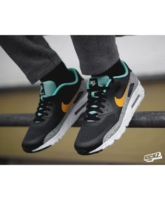 the best attitude 99c32 11c2a Nike Air Max 90 Ultra Essential Enemal Green Sneakers Sale UK New Nike Air,  Cheap