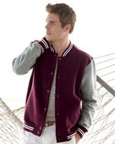 New-- MV Sport - Varsity Sweatshirt Jacket - 2369