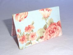 Romantic Pink Roses on Robbins Egg Blue Floral by ShastaBlue, $8.00