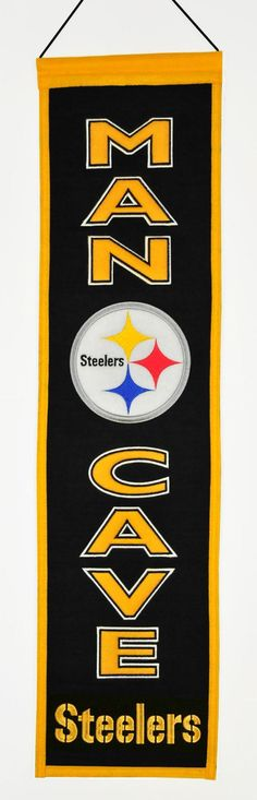 Pittsburgh Steelers Wool Man Cave Banner