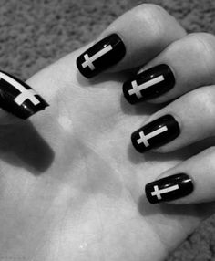 I used to have these exact cross nails, except that they are really bad quality. They are from Diva and are press on. They fall off very easily, even when i did use glue