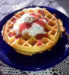 """Kathryn's Low Carb Kitchen: ~ """"Oopsi Batter Waffles"""""""