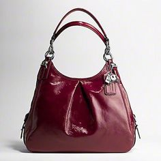Coach Mia Red Patent Leather Purse ! 15734