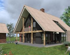 When you're talking about modern wooden house you hardly imagine how beautiful and cozy such house can be. Talented architects are able to c. Modern Wooden House, Wooden House Design, Modern Cottage, Wooden Houses, Prefab Homes, Cabin Homes, Style At Home, May House, Two Storey House