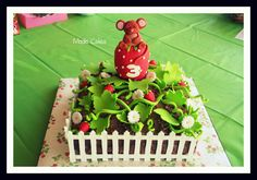Strawberry Birthday Cake - My daughter wanted a strawberry themed birthday cake for her 3rd birthday, this is what I came up with.