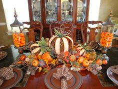 Fall Table Fall Table, Fall Decorating, Fall Halloween, Tablescapes, Halloween Decorations, Centerpieces, Thanksgiving, Wreaths, Dinner