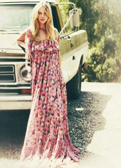 There is a beautiful girl in that beautiful summer gown