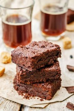 Dietetyczne brownie z fasoli Grain Free, Dairy Free, Black Bean Brownies, Gluten Free Baking, Bean Recipes, Brownie Recipes, Black Beans, Sugar Free, Deserts