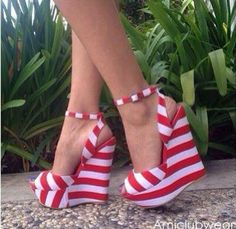 red stripped wedges!