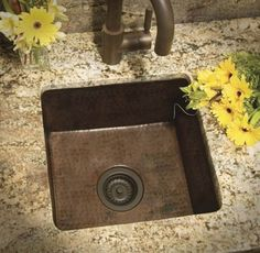 Another hand- hammered copper prep sink from Native Trails