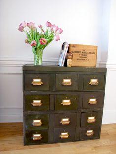 industrial metal file cabinet