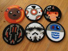 Bügelperlen - Untersetzer Star Wars