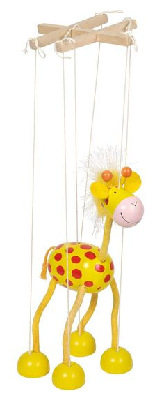 Goki Marionette Giraffe Toy: Magical marionette made of wood. Dexterity and motor skills are learned through play. Lovable and easy to move - for those who want to learn the fine art of puppetry. This cute marionette brings much joy to the children's. Bird Puppet, Marionette Puppet, Puppet Toys, Puppets For Sale, Puppets For Kids, Wood Shop Projects, Puppet Crafts, Organic Art, Animal Projects