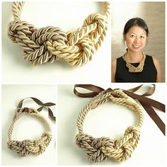 Nautical style rope necklace via High Low Food Drink.
