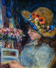 Pierre Auguste Renoir - Girl Reading, 1890 at Städel Art Museum Frankfurt Germany
