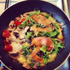 Omelet med laks