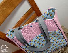 tuto sac passepoil PIKEBOU 16 Diaper Bag, Gym Bag, Patches, Tote Bag, Diy, Pattern, Wallets, Decoration, Fashion