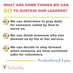 What Does it Mean to Sustain My Church Leaders? June Come Follow Me. FREE social media images and really useful teaching ideas! www.theredheadedhostess.com