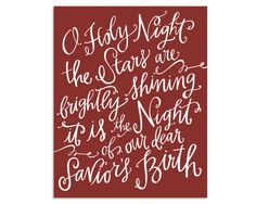 O Holy Night Canvas // Red