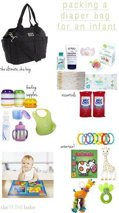 packing-a-diaper-bag-for-an-infant....organized, packed diaper bag as a shower gift