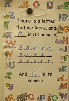 TEACH YOUR CHILD TO READ - Letter sound song to the tune of Old McDonald - like that you can sing it with the sounds too for the letter Super Effective Program Teaches Children Of All Ages To Read. Kindergarten Songs, Preschool Songs, Preschool Letters, Kindergarten Literacy, Preschool Classroom, Preschool Learning, Letter Recognition Kindergarten, Classroom Games, Preschool Themes