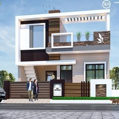 House Front Wall Design, House Balcony Design, House Outer Design, House Main Gates Design, Single Floor House Design, Modern Small House Design, House Outside Design, Village House Design, Duplex House Design