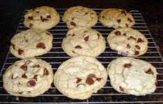 Thick and Chewy Chocolate Chip Cookies - Food Folks and Fun