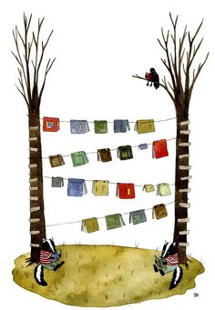 Rambling Meat: Illustration Friday: Book i love books & clotheslines. I Love Books, Books To Read, My Books, Reading Art, I Love Reading, Reading Time, Buch Design, World Of Books, Library Displays