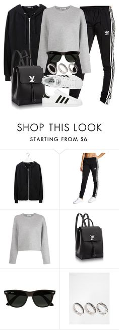 """Style #11555"" by vany-alvarado ❤ liked on Polyvore featuring BLK DNM, adidas Originals, T By Alexander Wang, adidas, Ray-Ban and ASOS"