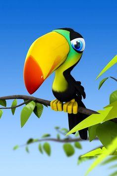 Cute toucan