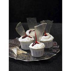 Cupcakes verres cassés - Halloween : 24 recettes effrayantes et faciles repérées sur Pinterest - Elle à Table