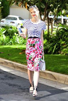 Skirt: pencil skirt, jaime king, spring, spring outfits, sandals ...