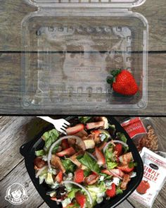 Wendy's Strawberry Fields Chicken Salad is filled with California's best strawberries. Perfect for freshening up your lunch.