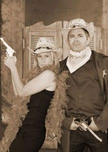 Old Time photo fun!  We will be doing this at Western-Themed parties and festivals!