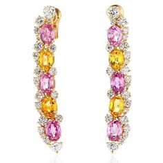 Welcome LINA earrings to the Marina B family! LINA earrings feature vibrant pink…
