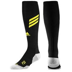 159b38e6751e adidas F50 Soccer Sock - Mens - Black Vivid Yellow