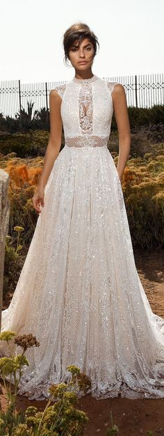 Featured Dress: Galia Lahav; Wedding dress idea.