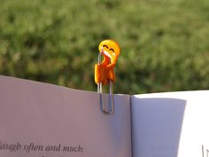 Hungry Monster Paper Clip Bookmark by RomanticRiver on Etsy