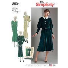 Misses Vintage Dress Simplicity Sewing Pattern 8504.