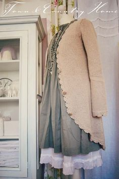 Modest & Feminine & Pretty Dress & Cardigan from TOWN COUNTRY HOME