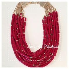 Red necklace Amy de Petatiux