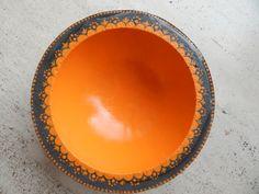Deko-Objekte - Betonschale orange - ein Designerstück von Petristein bei DaWanda